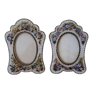 Pair of Micro Mosaic Frames For Sale