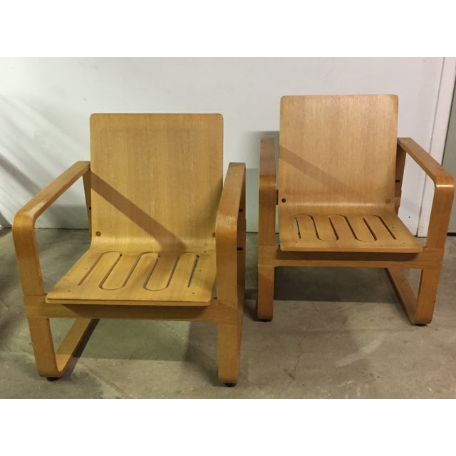 Modern Bentwood Club Chairs - A Pair - Image 2 of 5