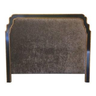 Jonathan Charles Regency Style Upholstered King Size Headboard For Sale