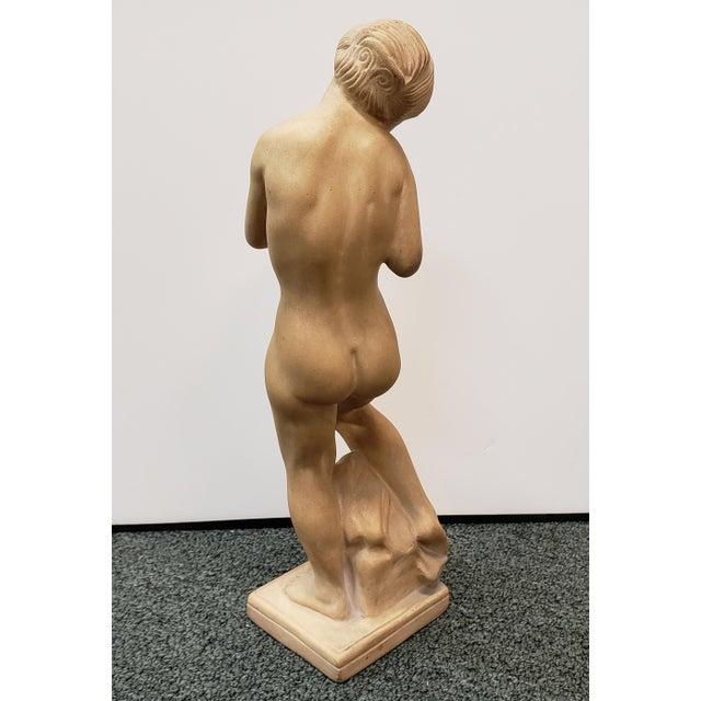 "Art Deco 1918 Danish Art Deco Kai Nielsen for Herman Kahler ""Eve With the Apple"" Terracotta Sculpture For Sale - Image 3 of 6"