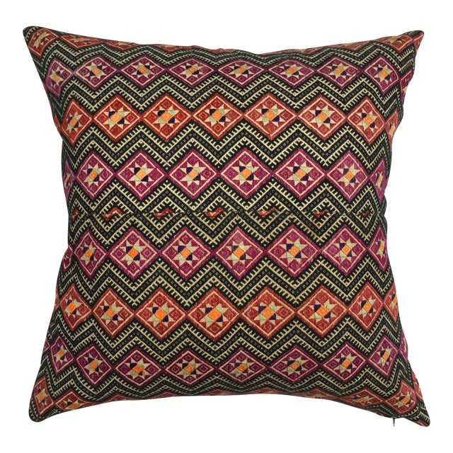 Antique Dragon Back Wedding Quilt Pillow - Image 1 of 7