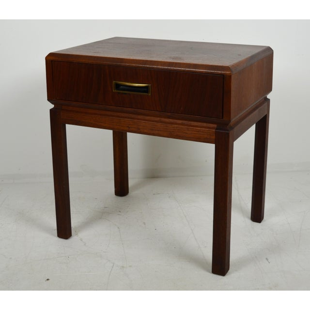 1960s Mid Century Modern Founders Furniture Co. Walnut Nightstand For Sale - Image 10 of 10