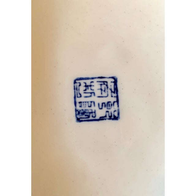 Ceramic Mid 20th Century Blue and White Ginger Jar For Sale - Image 7 of 9