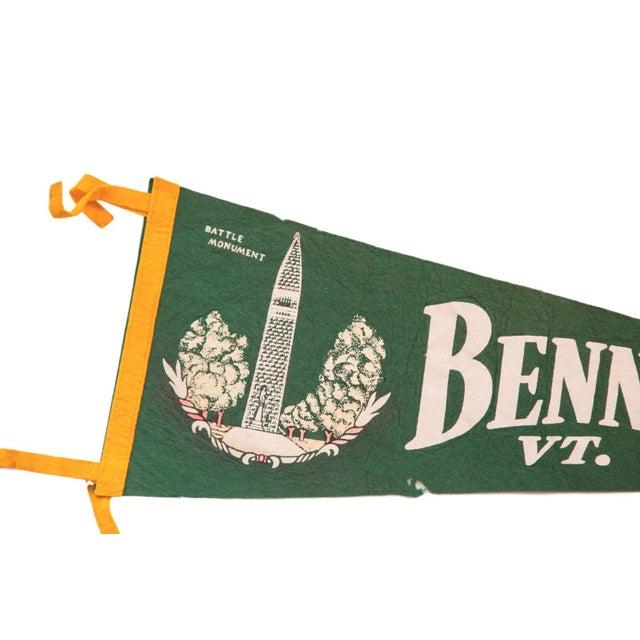 Large Green Bennington Vermont Felt Flag - Image 3 of 3