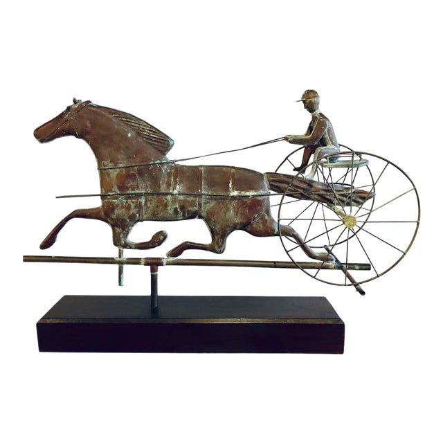 St. Julien Weather Vane Attributed to j.w. Fiske 19th Century Full Bodied Metal For Sale