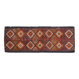 Vintage Uzbek Runner Rug - 3'6″ x 9'9″ For Sale