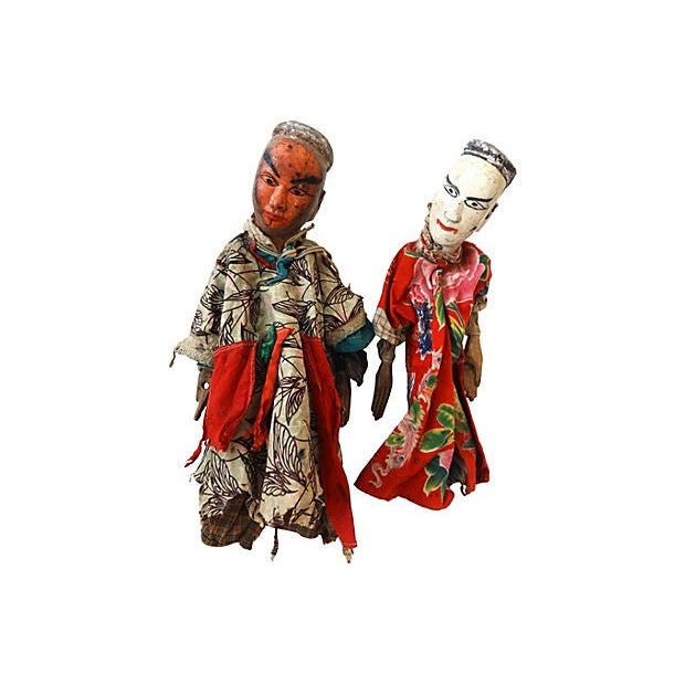 Folk Art Theater Opera Doll Puppets - A Pair - Image 3 of 6
