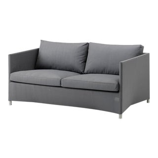 Cane-Line Diamond 2-Seater Sofa, Gray For Sale