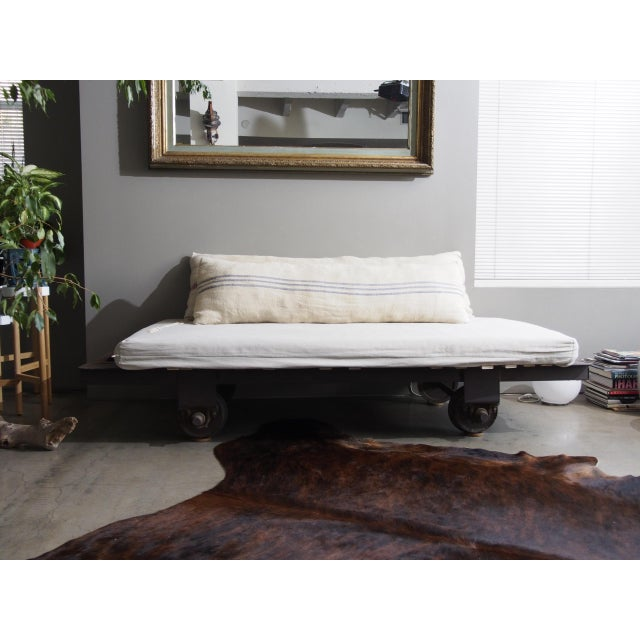 Late 20th Century Vintage Railroad Cart Daybed For Sale - Image 13 of 13