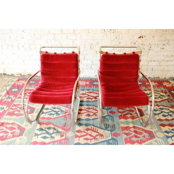 Mies Van der Rohe MR-20 Lounge Chairs - A Pair - Image 3 of 9