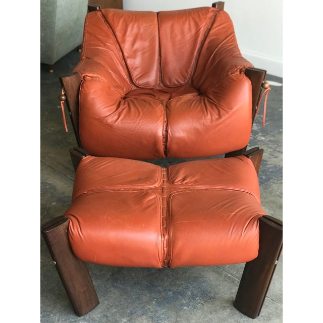 Mid Century Modern Model Mp-212 Percival Lafer Lounge Chair and Ottoman For Sale In Philadelphia - Image 6 of 13