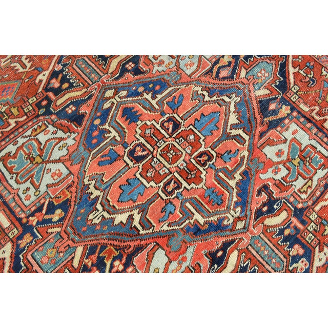 "Antique Persian Heriz Rug - 7'7"" X 10'11"" - Image 7 of 8"