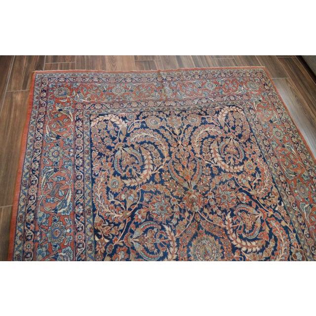 "Vintage Persian Sarouk Rug - 6'11"" X 10'11"" - Image 5 of 11"