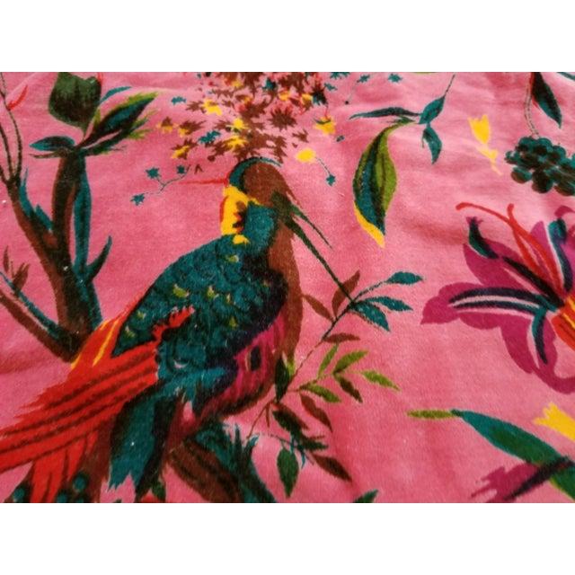 Cotton Chinoiseri Bird Textile, Pink - 13 Yards - Image 3 of 5