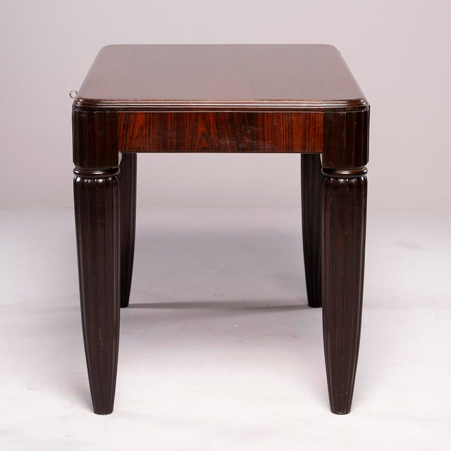 1930s French Rosewood Writing Table With Fluted Legs For Sale In Detroit - Image 6 of 12