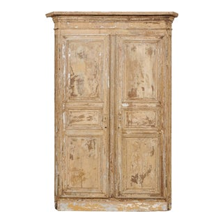 19th Century Italian Wood Doors Within Original Casing & Molding - a Pair For Sale