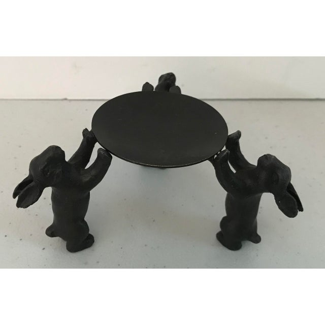 Figurative Vintage Bronze Rabbit Candle Holder or Display Stand For Sale - Image 3 of 7