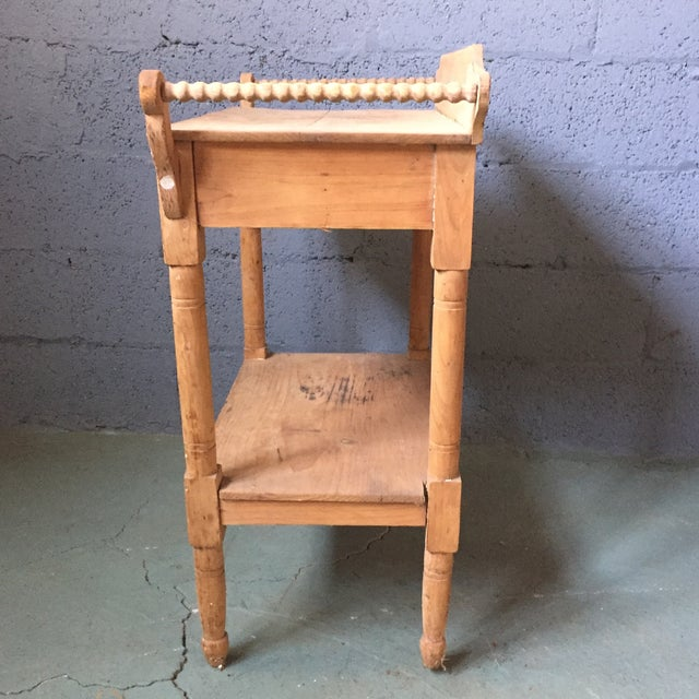 Antique Pine & Milk Glass Washstand For Sale In Philadelphia - Image 6 of 11