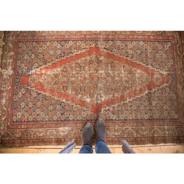 "Antique Fereghan Rug - 4'1"" x 6'3"" - Image 8 of 9"