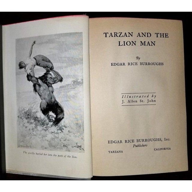 Presenting a gloriously rare book Tarzan and the Lion Man by Edgar Rice Burroughs 1st Edition. An attractive first...