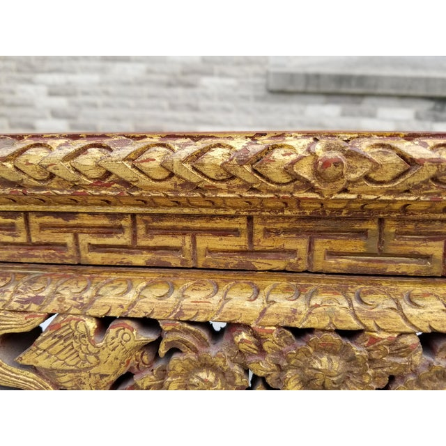Antique Chinese Gilt Carved Wood Kang Table For Sale In New York - Image 6 of 13