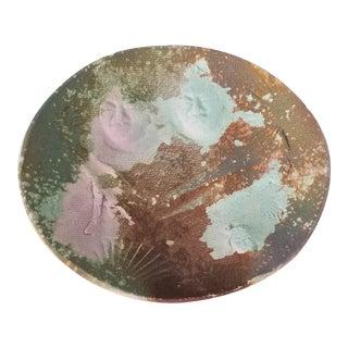 1980s Raku Studio Pottery Decorative Bowl / Plate , Signed For Sale
