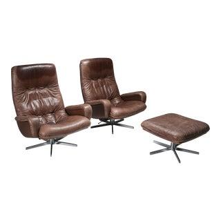 Lounge Chair Set S231 'James Bond' by De Sede, Switzerland - 1969 For Sale