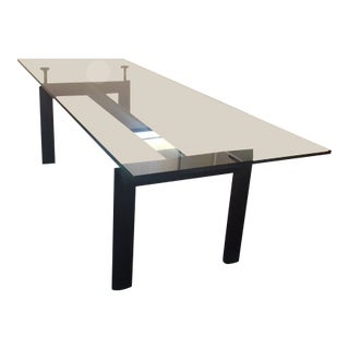 Le Corbusier and Charlotte Perriand Lc6 Glass and Steel Table For Sale
