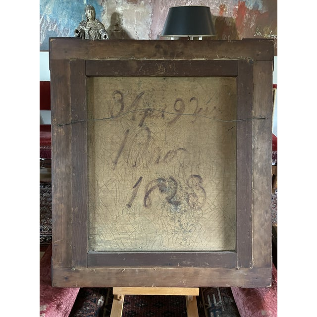 Early 19th Century American Folk Art Portrait Oil Painting of a Girl, Framed For Sale - Image 10 of 13