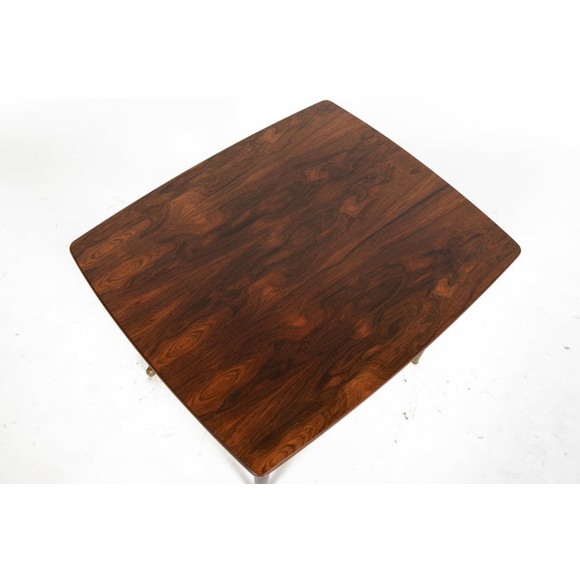 Danish Modern Rosewood Side Table With Rack - Image 5 of 7