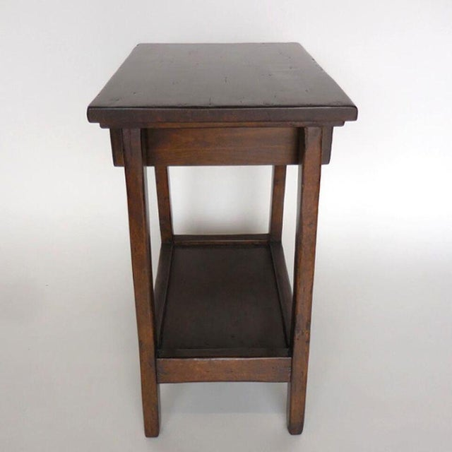Custom Wood Nightstand/Side Table with Drawer and Shelf - Image 6 of 9
