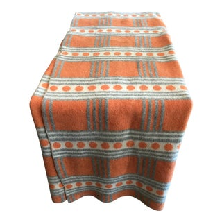 Vintage Swedish Wool Blanket For Sale