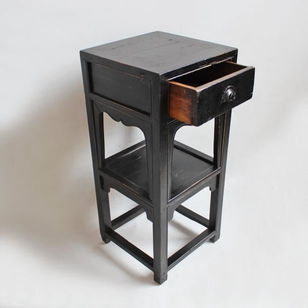 Antique Black Side Table - Image 2 of 3