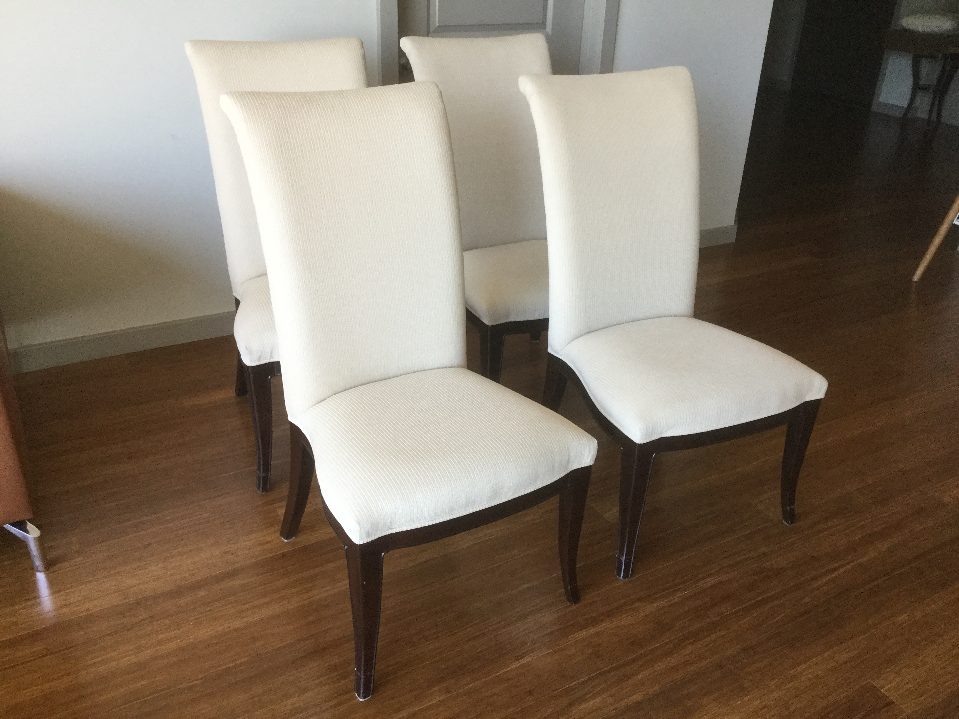Charmant Thomasville Nocturne Upholstered Dining Chairs S/4   Image 3 Of 11