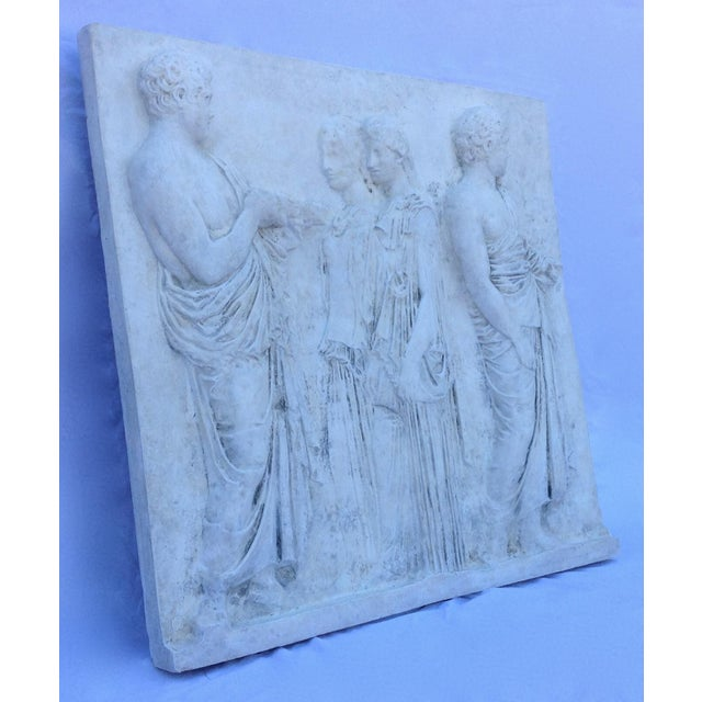 Vintage Hollywood Regency Greco-Roman Sculptural Wall Art - Image 3 of 11