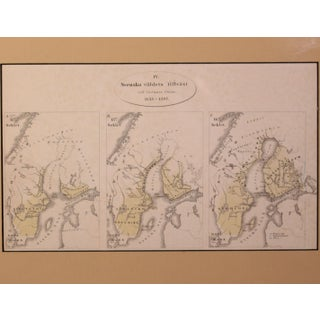 Antique Map Depicting the Swedish Empire's Between 1155 – 1397, Framed Preview