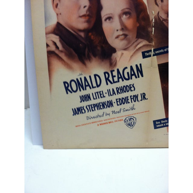 """American Vintage """"Secret Service of the Air"""" Ronald Reagan Mounted Movie Poster For Sale - Image 3 of 7"""