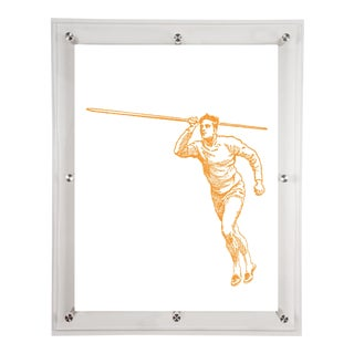 Mitchell Black Home Yellow Javelin Art For Sale