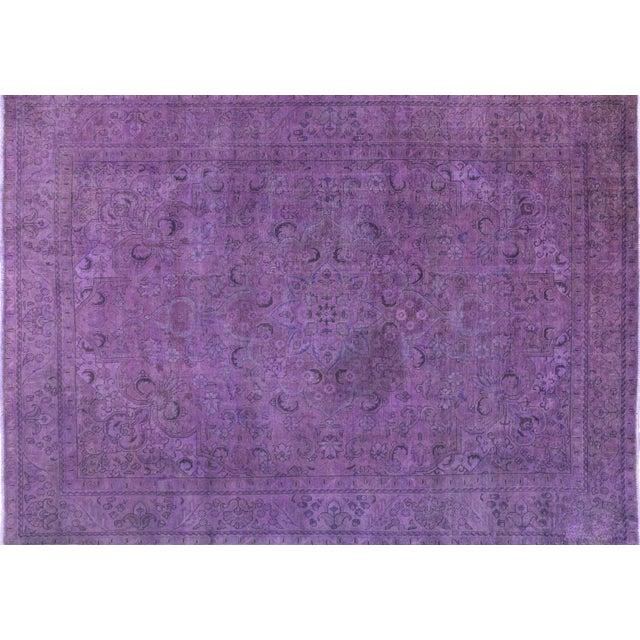 "Purple Overdyed Rug - 8'1 x 11'5"" - Image 1 of 6"