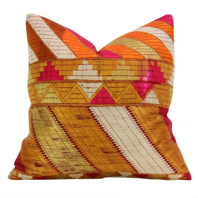Mehreen Phulkari Pillow, Pair - Image 4 of 5