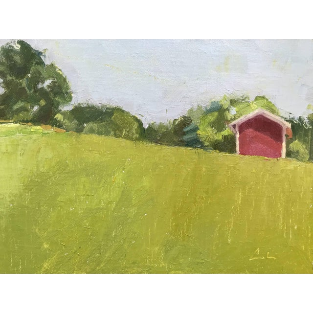 Caitlin Winner Red Barn Upstate - Original Oil Painting by Caitlin Winner For Sale - Image 4 of 4