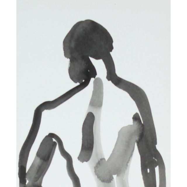 L. Lengyel Vintage 1979 Ink Wash Nude Painting - Image 2 of 2