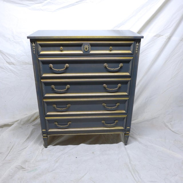 French Style Gray-Blue Painted Dresser - Image 3 of 11