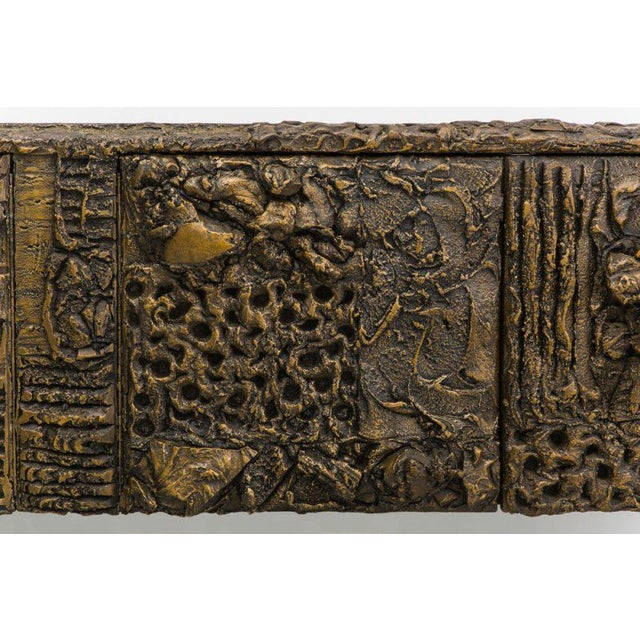 Paul Evans, Sculpted Bronze Console, Usa, 1970 For Sale In New York - Image 6 of 7