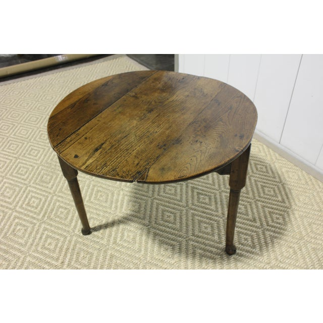 1900 - 1909 1900s Traditional Round Cricket Table For Sale - Image 5 of 7