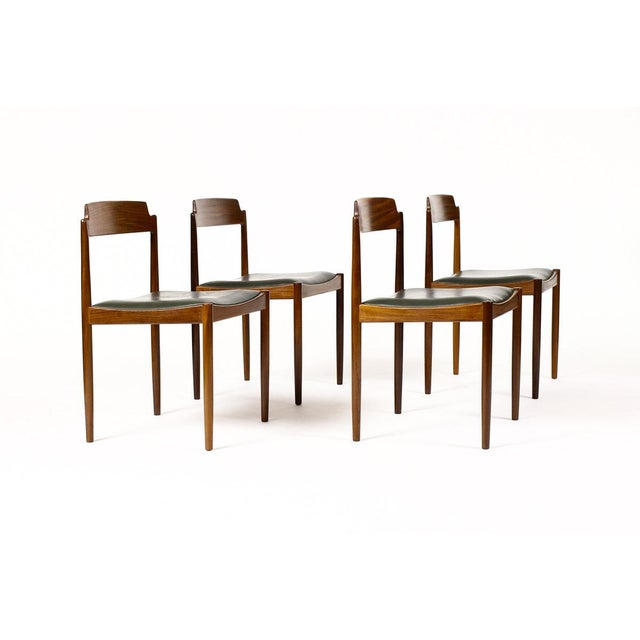 1960s Danish Modern Ib Kofod Larsen for G-Plan Mahogany Dining Chairs - Set of 4 For Sale In Los Angeles - Image 6 of 6