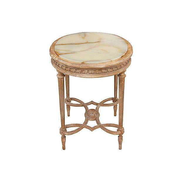 Louis XVI Onyx Accent Table - Image 6 of 6