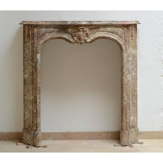 Beautiful Petite Marble Régence Style Fireplace Mantel For Sale - Image 10 of 10