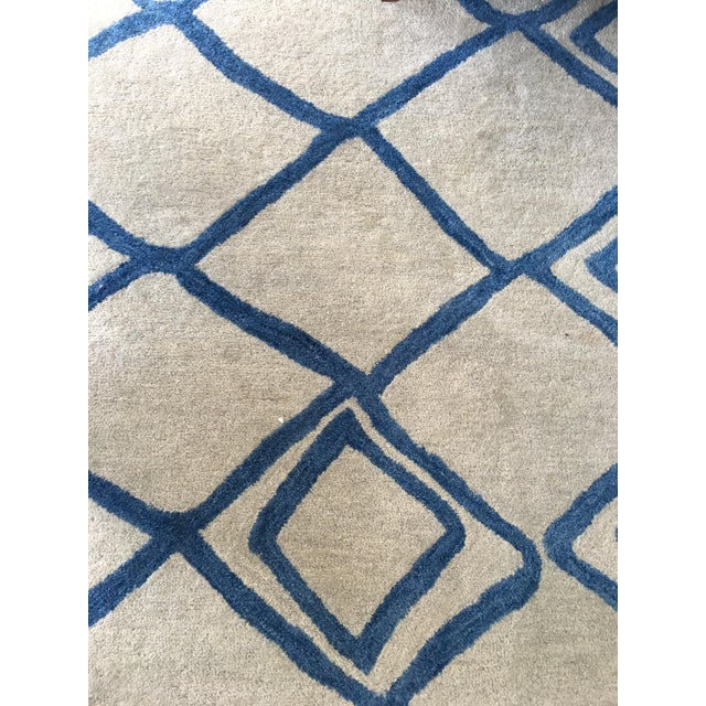"Hand-Tufted Utopia Lucca Ivory Wool Rug - 9'6"" x 13'6"" - Image 2 of 3"