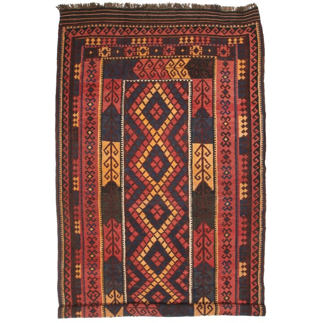 RugsinDallas Vintage Oversize Wool Afghan Kilim - 7′10″ × 14′6″ - Image 2 of 2